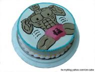 猛男(平面)造型蛋糕