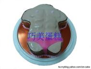 猛男造型蛋糕