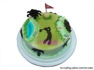 高爾夫球場第19桿造型蛋糕