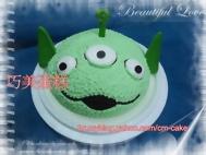三眼怪(頭)造型蛋糕