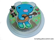 小熊彈吉他造型蛋糕