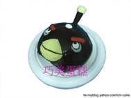炸彈鳥造型蛋糕