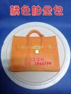 橘色柏金包
