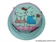 kitty一親芳澤造型蛋糕