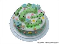 毛毛蟲造型蛋糕