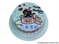 黑貓盒子造型蛋糕