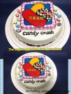 Candy Crush糖果粉碎2D造型蛋糕
