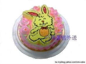 小兔子2D造型蛋糕