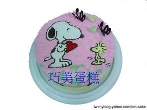 史奴比+塔克造型蛋糕