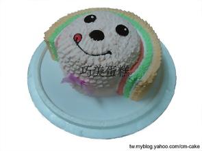 OPEN將立體(頭)造型蛋糕(黃、綠、紅)