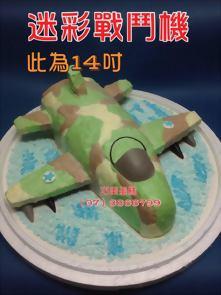 迷彩戰鬥機(14吋)
