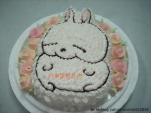 賤兔造形蛋糕