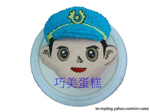警察(頭)造型蛋糕