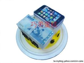 金錢+IPHONE5造型蛋糕