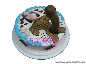 相片+超強猛男造型蛋糕
