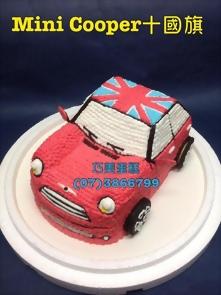 紅色mini cooper汽車造型蛋糕