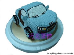 相片+奧迪汽車造型蛋糕