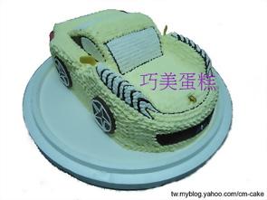 紅色法拉利汽車造型蛋糕