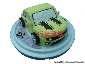 變形金剛大黃蜂汽車造型蛋糕