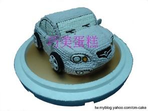 蓮花汽車造型蛋糕