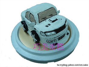 平面汽車造型蛋糕