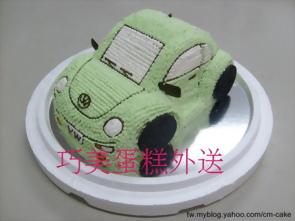 福斯金龜車汽車造型蛋糕