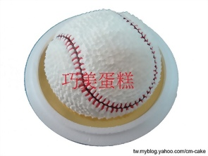 棒球場造型蛋糕