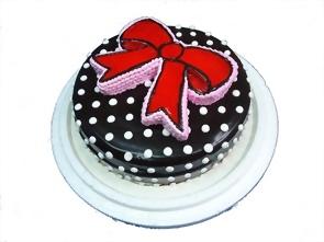 蝴蝶結造型蛋糕