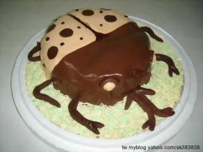 甲蟲造形蛋糕,新春愉快