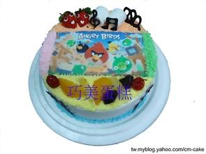 憤怒鳥相片蛋糕