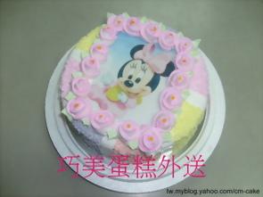 米妮相片蛋糕