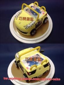 相片+敞篷法拉利汽車造型蛋糕