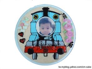 相片+湯瑪士小火車造型蛋糕