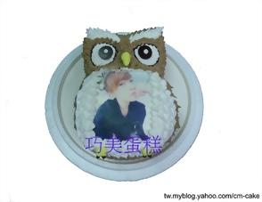 相片+貓頭鷹造型蛋糕