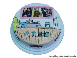 相片+吧台造型蛋糕