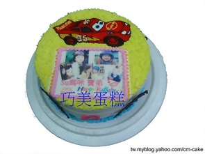 相片+閃電麥坤汽車造型蛋糕