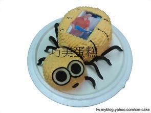 相片+蜘蛛造型蛋糕