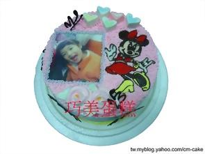 相片+米妮造型蛋糕