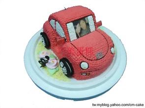 相片+汽車造型蛋糕
