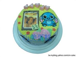 相片+垂耳史迪奇造型蛋糕
