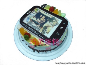 相片+HTC手機造型蛋糕