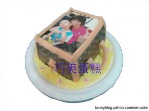 相片+名牌包包造型蛋糕