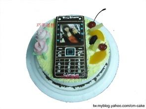 相片+易利信手機造型蛋糕