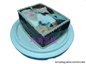 長方形相片蛋糕