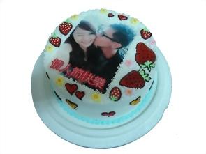 草莓+相片蛋糕