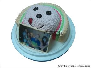 相片+OPEN將造型蛋糕