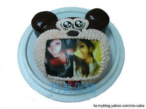 相片+米奇(頭)造型蛋糕
