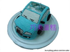 相片+奧迪A3汽車造型蛋糕