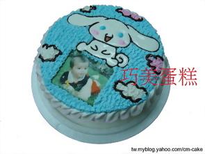 相片+大耳狗造型蛋糕