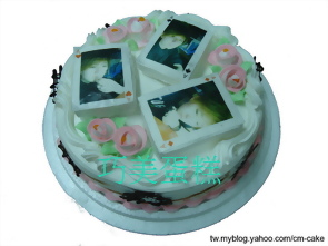 相片+撲克牌造型蛋糕